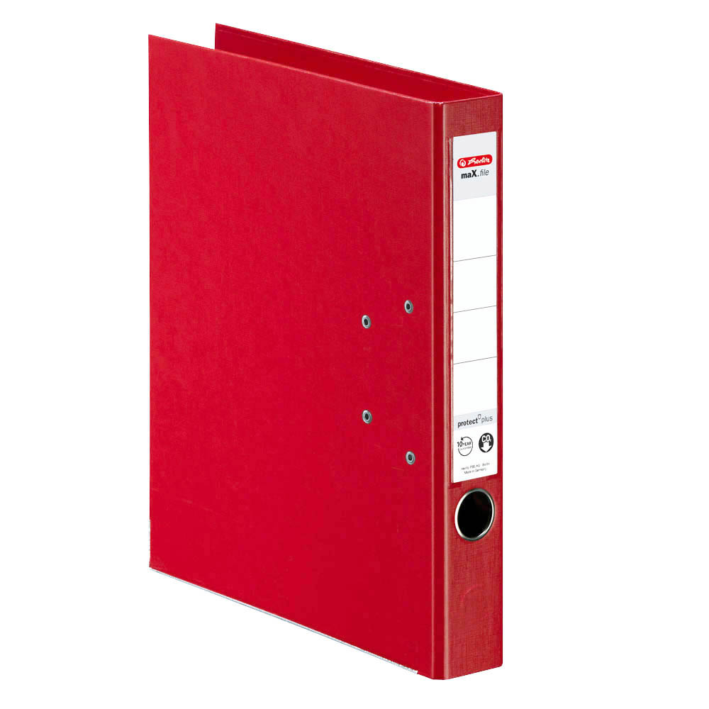 Herlitz Ordner rot 50 mm DIN A4 maX.file protect plus