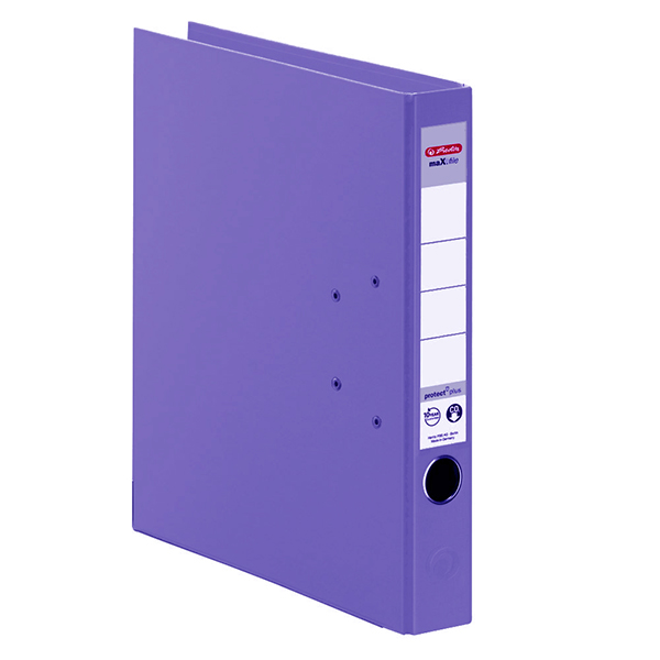 Herlitz Ordner violett 50 mm DIN A4 maX.file protect plus