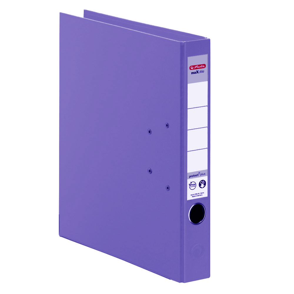 Herlitz Ordner violett 50 mm DIN A4 maX.file protect plus
