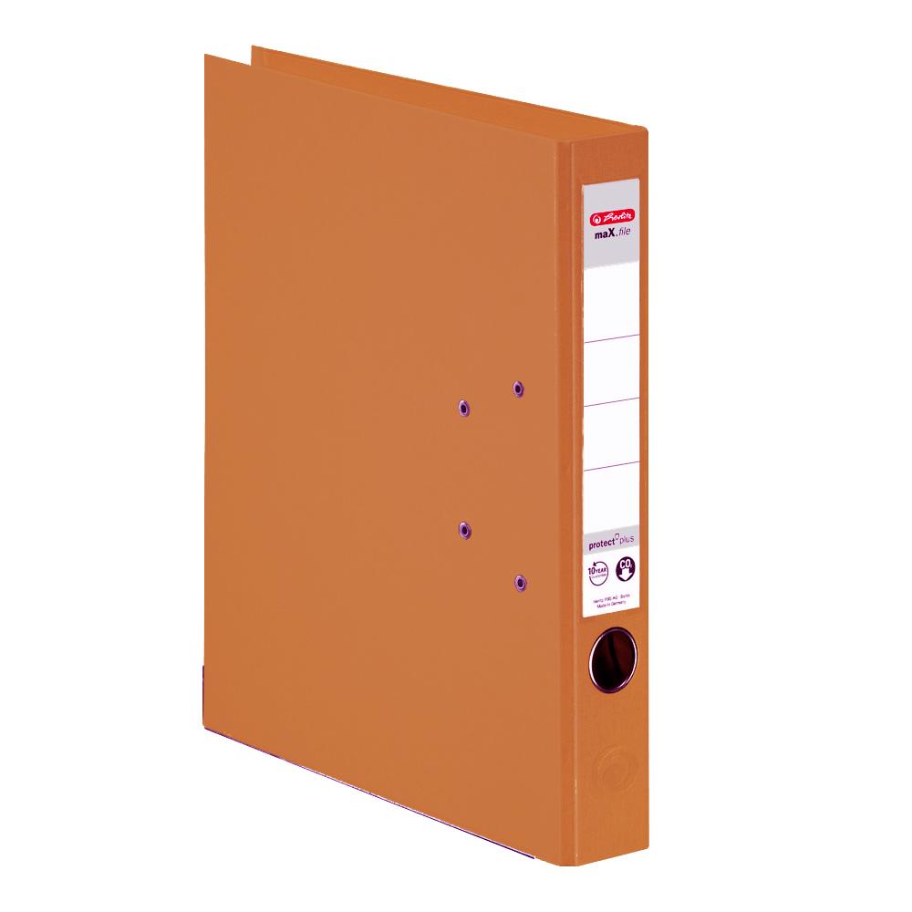 Herlitz Ordner orange 50 mm DIN A4 maX.file protect plus