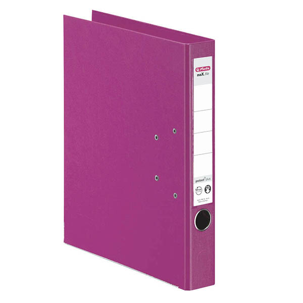 Herlitz Ordner fuchsia 50 mm DIN A4 maX.file protect plus
