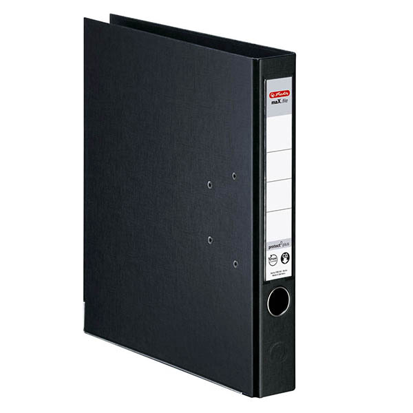 Herlitz Ordner schwarz 50 mm DIN A4 maX.file protect plus