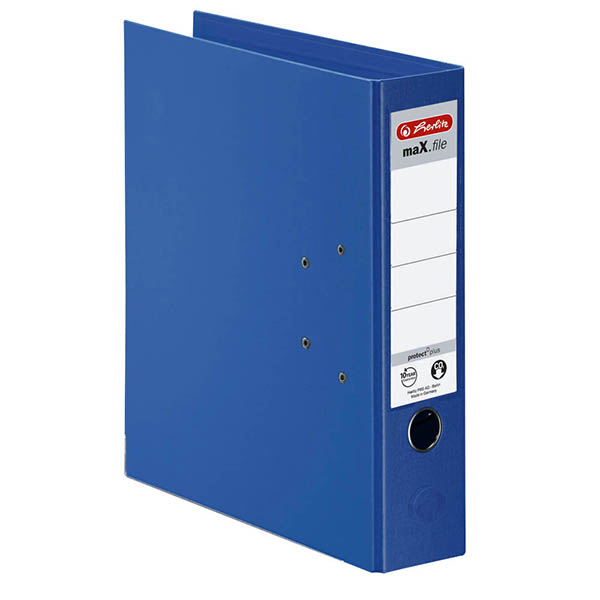 Herlitz Ordner blau 80 mm DIN A4 maX.file protect plus