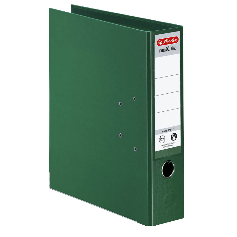 Herlitz Ordner grün 80 mm DIN A4 maX.file protect plus