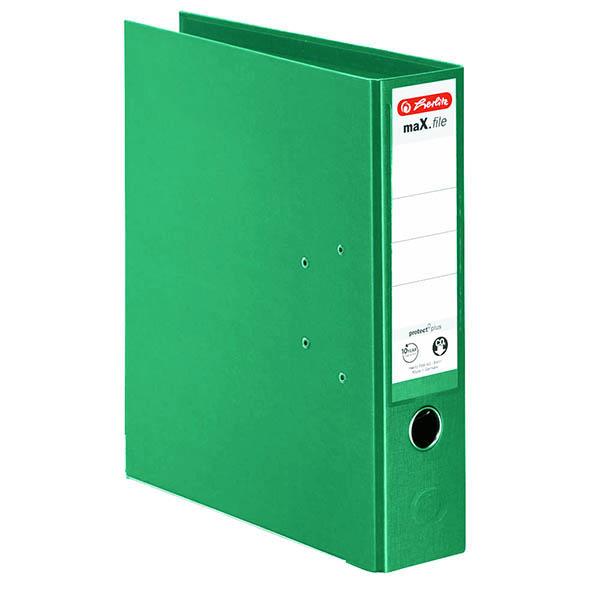 Herlitz Ordner hellgrün 80 mm DIN A4 maX.file protect plus