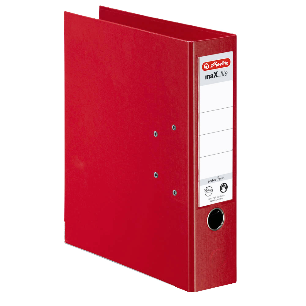 Herlitz Ordner rot 80 mm DIN A4 maX.file protect plus