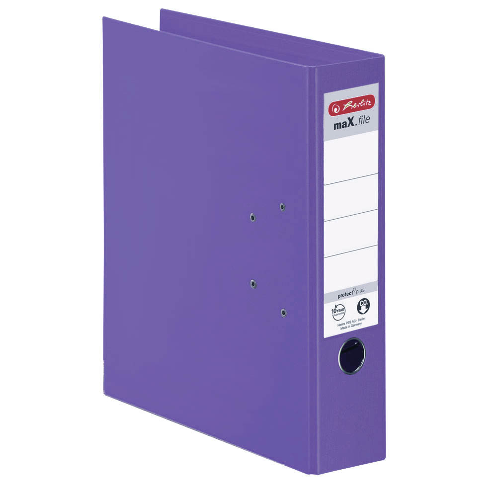 Herlitz Ordner violett 80 mm DIN A4 maX.file protect plus