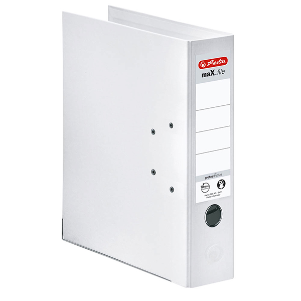 Herlitz Ordner weiß 80 mm DIN A4 maX.file protect plus