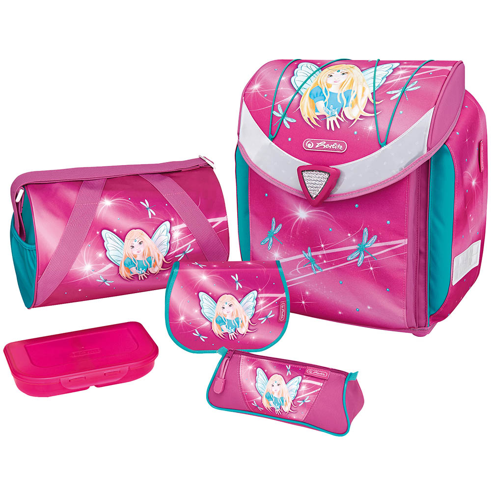 Herlitz Schulranzen Flexi Plus Fairy 5er-Set