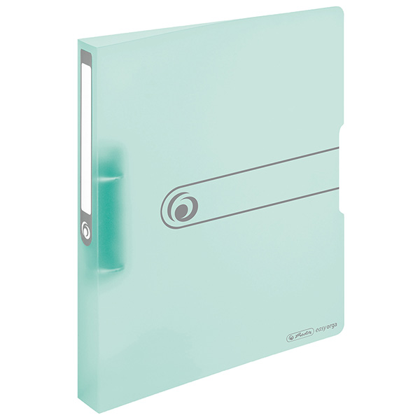 Herlitz Ringbuch PP A4 transparent minze 38 mm 2 Ringe