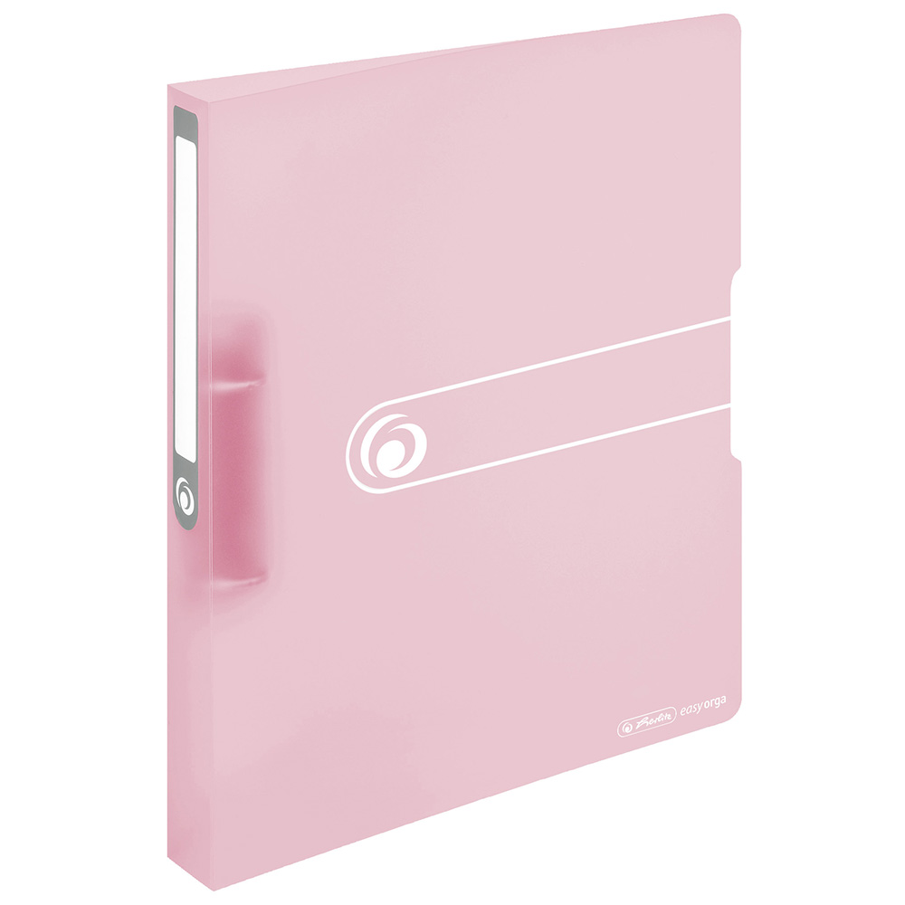 Herlitz Ringbuch PP A4 transparent rose 38 mm 2 Ringe