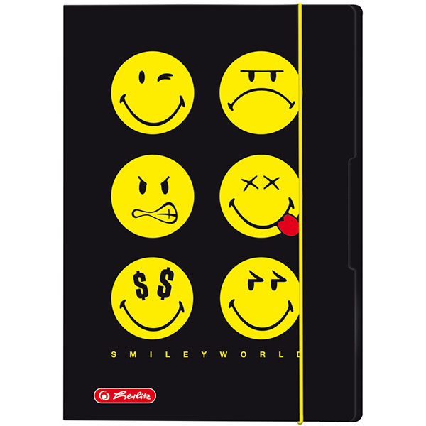 Herlitz Sammelmappe Smileyworld Black DIN A4
