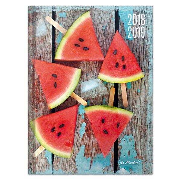 Herlitz Schülerkalender Basic A5 Melone 2018/2019