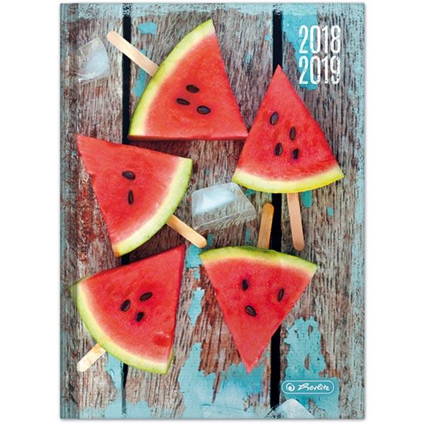 Herlitz Schülerkalender Legend A5 Melone 2018/2019