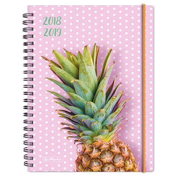 Herlitz Schülerkalender MustHave A5 Ananas 2018/2019