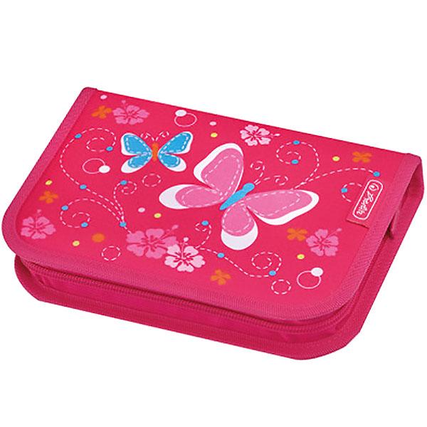 Herlitz Schüleretui Pink Butterfly