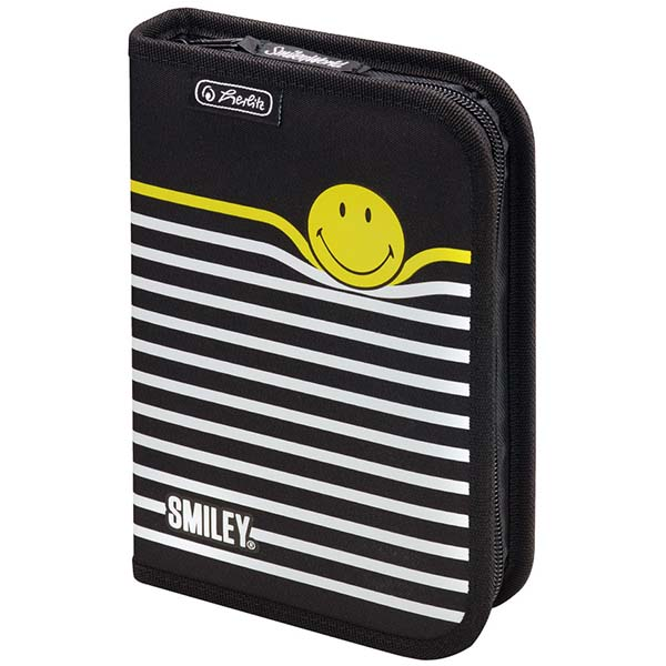 Herlitz Schüleretui SmileyWorld Black & Yellow Jalousie 19-teilig