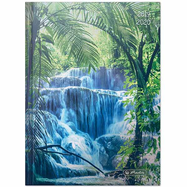 Herlitz Schülerkalender Basic A5 Wasserfall 2019/2020