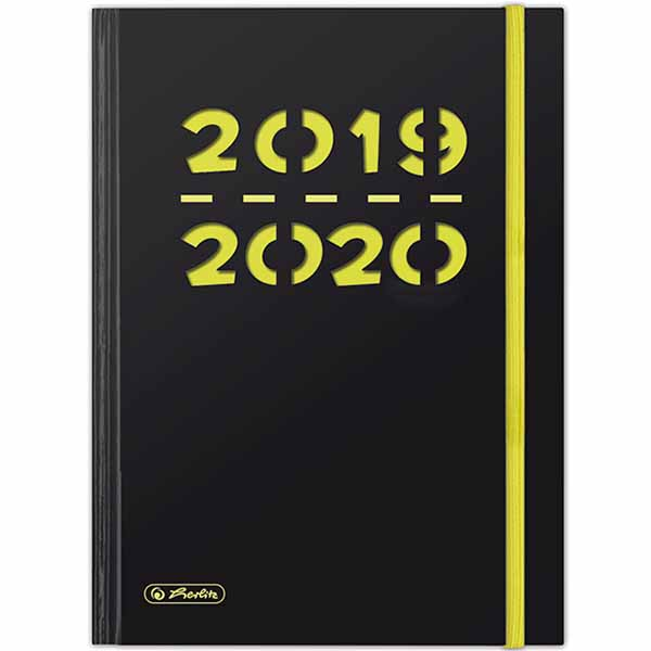 Herlitz Schülerkalender Pure A5 Neongelb 2019/2020