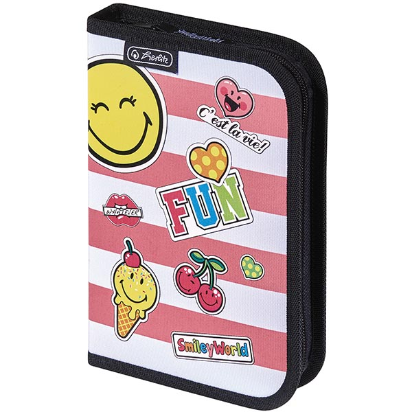 Herlitz Schüleretui SmileyWorld Girly 19-teilig