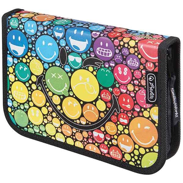 Herlitz Schüleretui SmileyWorld Rainbow 19-teilig