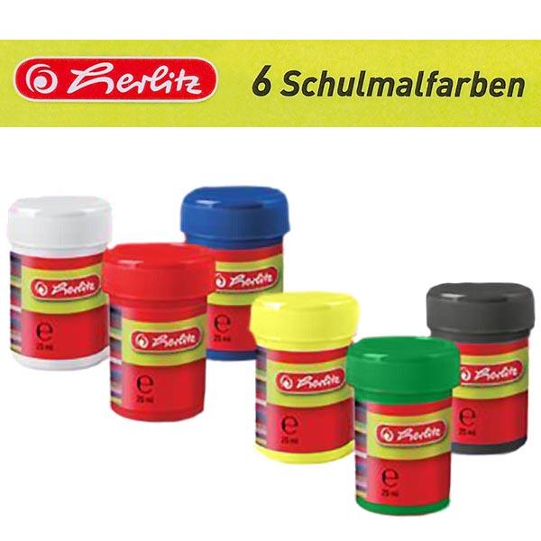 Herlitz Schulmalfarbe 6 Farben