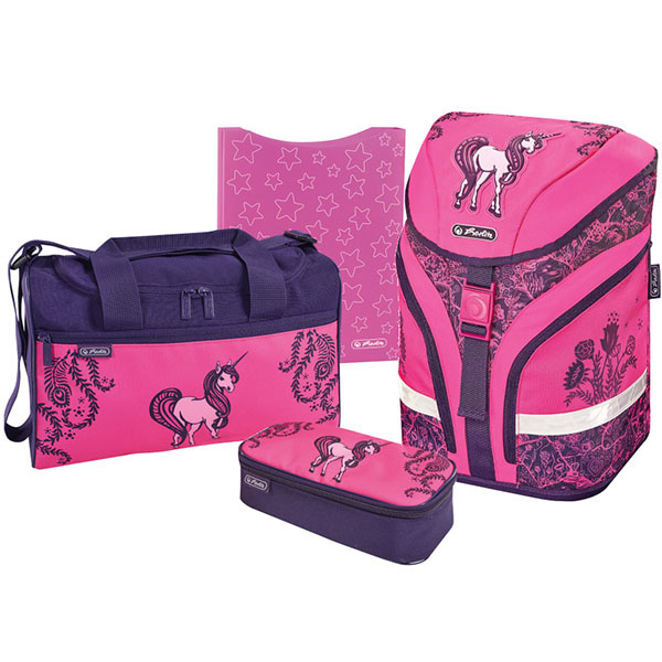Herlitz Schulrucksack Motion Plus Unicorn Day 4er-Set
