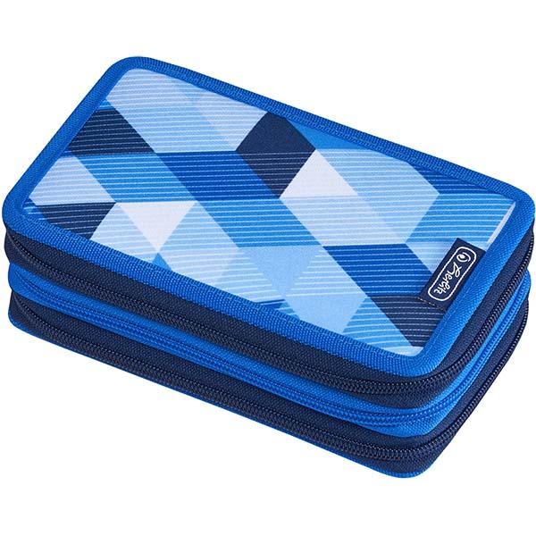 Herlitz Federmappe Triple Decker Etui Blue Cubes 31-teilig