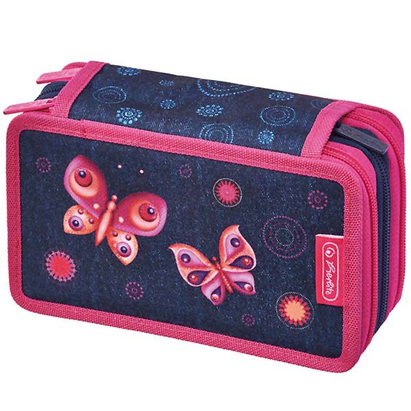 Herlitz Triple Etui Butterfly Dreams 31-teilig
