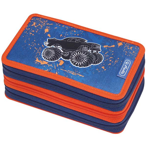 Herlitz Federmappe Triple Decker Etui Monster Truck 31-teilig