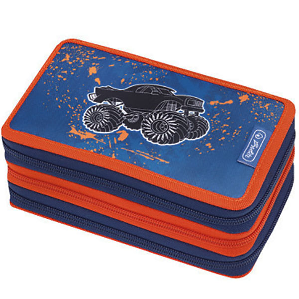 Herlitz Federmappe Triple Decker Etui Monster Truck