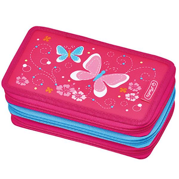 Herlitz Federmappe Triple Decker Etui Pink Butterfly