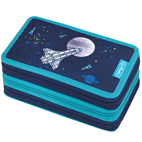 Herlitz Federmappe Triple Decker Etui Spaceship