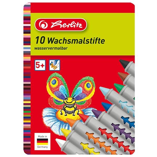Herlitz Wachsmalstifte 10 Farben