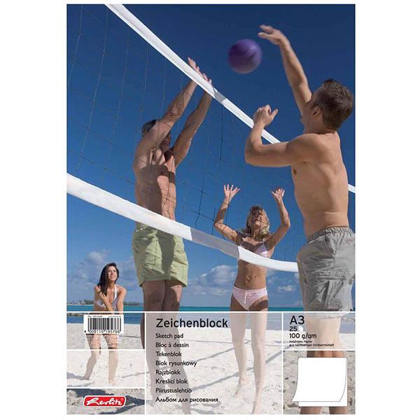 Herlitz Zeichenblock Beachvolleyball DIN A3 100 g/qm 25 Blatt