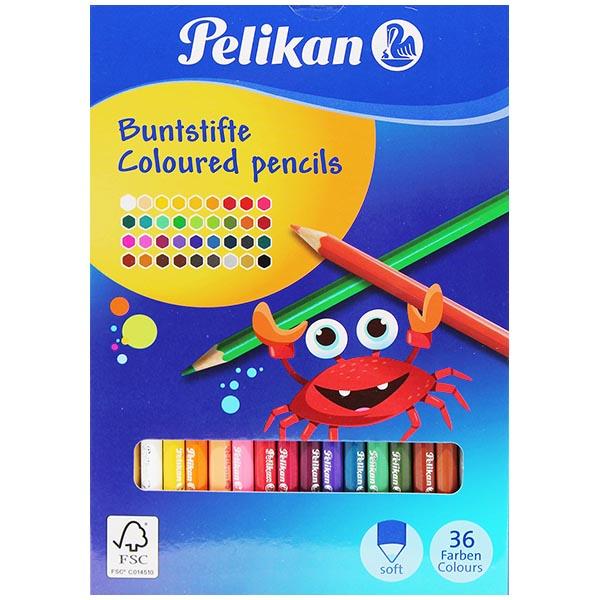 Pelikan Buntstifte 36 Farben 36 Stück lackiert