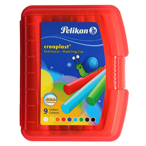 Pelikan Knete Creaplast 9 Farben rot