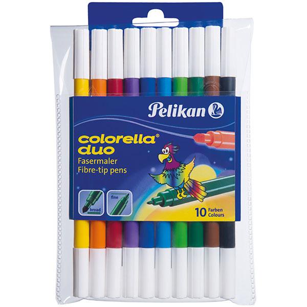 Pelikan Fasermaler Colorella Duo 10 Stück 10 Farben