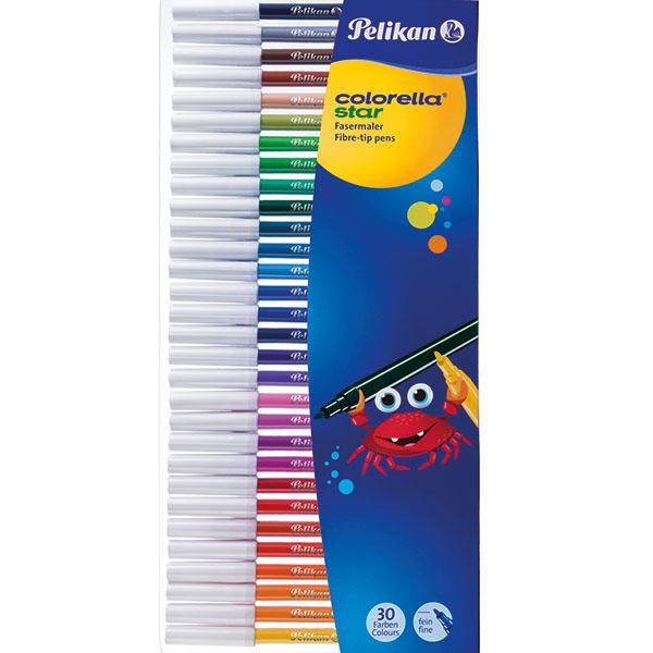 Pelikan Fasermaler Colorella Star 30 Stück 30 Farben
