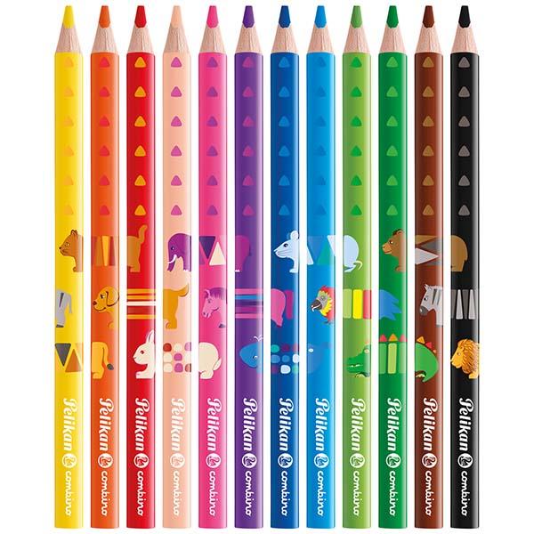 Pelikan Buntstifte Combino dick 12 Farben 12 Stück