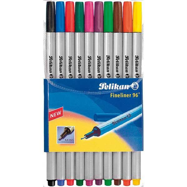Pelikan Fineliner 96 10 Stück 10 Farben
