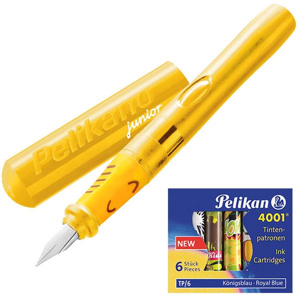 Pelikan Pelikano Füller Junior P67A gelb 2er-Set