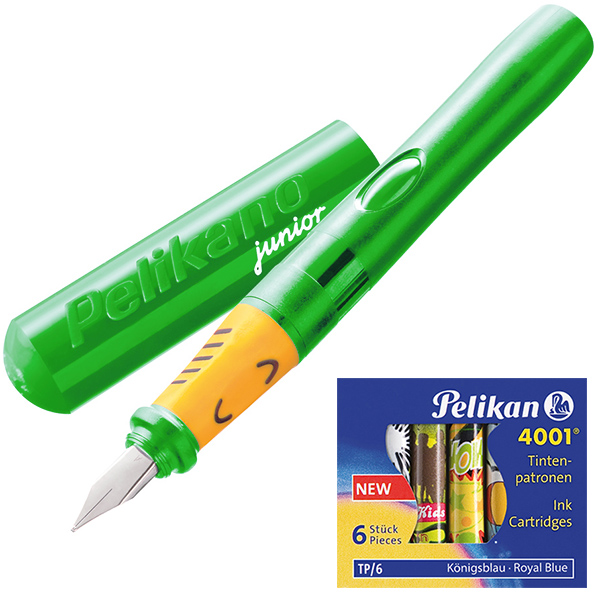 Pelikan Pelikano Füller Junior P67A grün 2er-Set