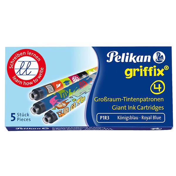 Pelikan Großraum Tintenpatrone mit Design Griffix 4 königsblau 5 Stück