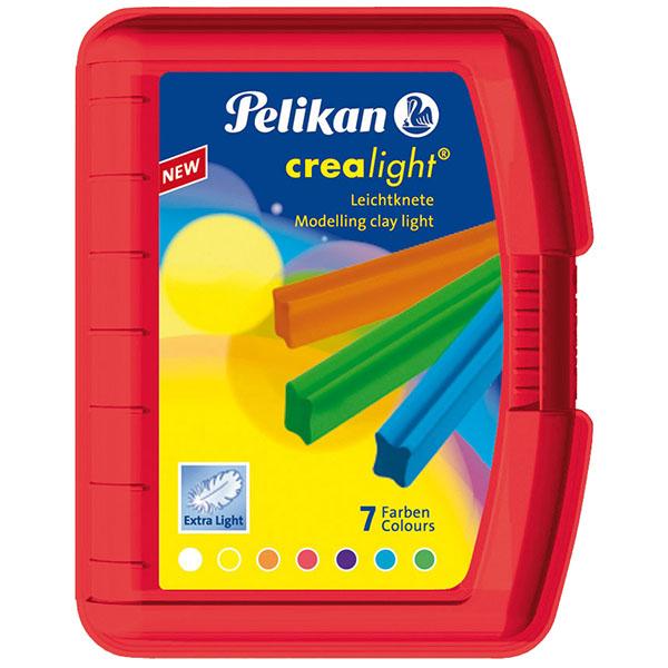Pelikan Knete Crealight 7 Farben rot