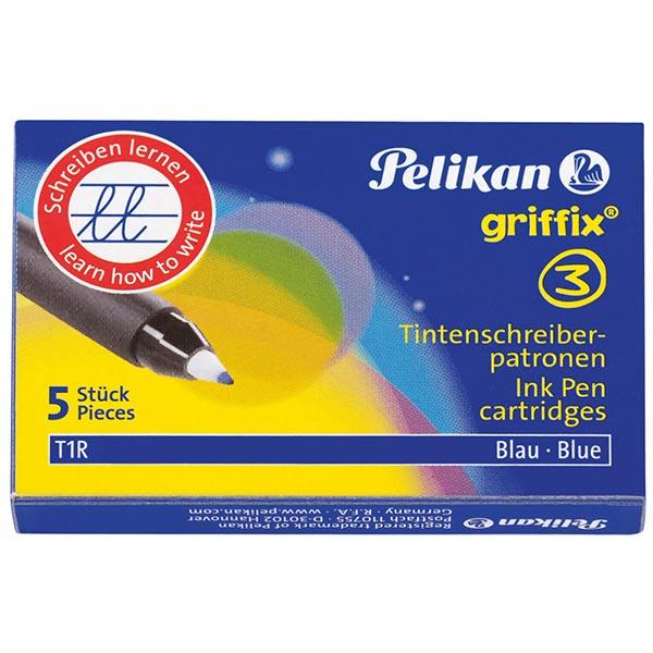 Pelikan Patronen für Griffix Tintenschreiber blau T1R
