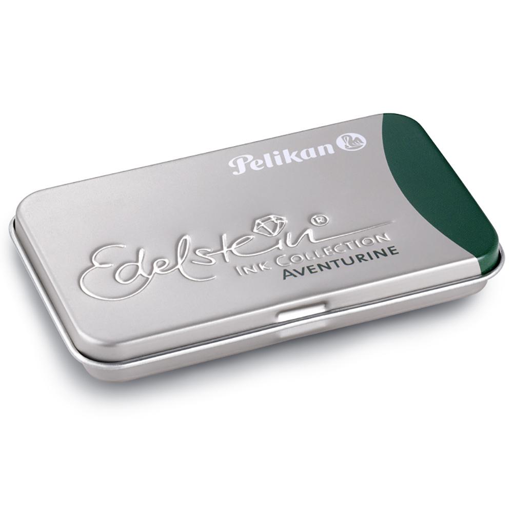 Pelikan Aventurin Edelstein Ink Tintenpatronen grün GTP/EIGR/6