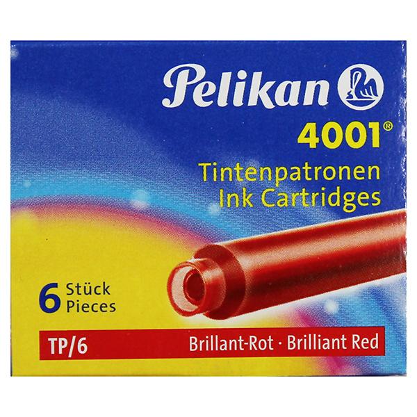 Pelikan Tintenpatronen brillant rot 4001 TP/6