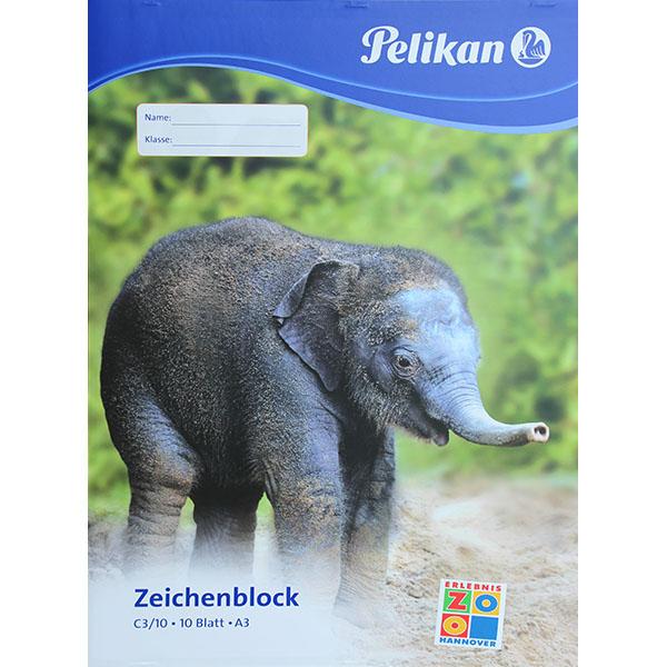Pelikan Zeichenblock Elefant DIN A3 100 g/qm 10 Blatt