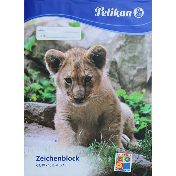 Pelikan Zeichenblock Löwe DIN A3 100 g/qm 10 Blatt
